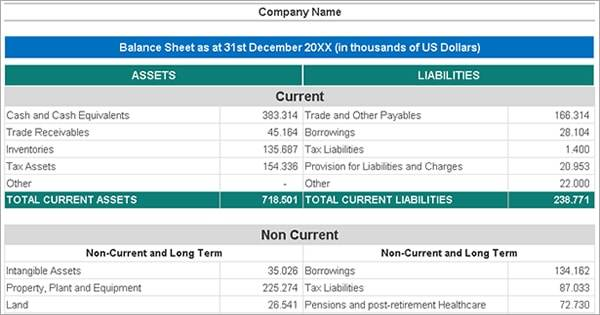 Consolidated Balance Sheet Excel Template With Examples  Top